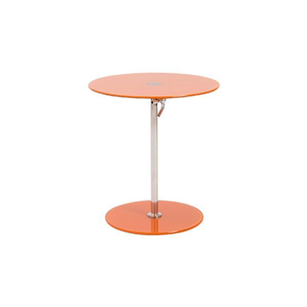 Radin Adjustable End Table - Orange
