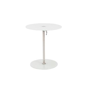 Radin Adjustable End Table - White