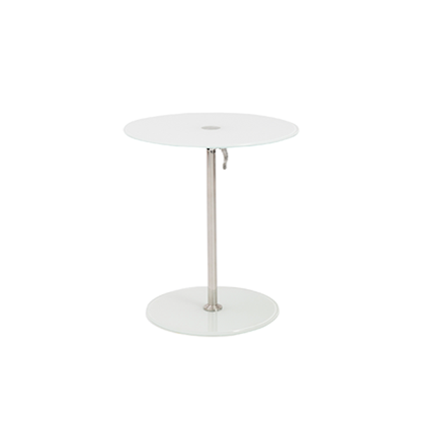 Radin Adjustable End Table - White
