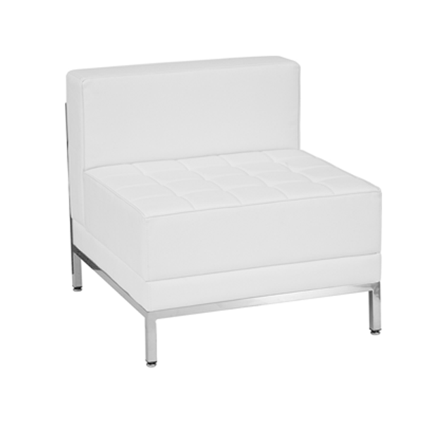 Tampa Armless Lounge Chair - White