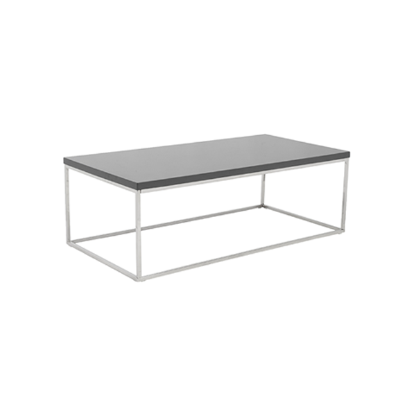 Teresa Cocktail Table - Rectangular - Gray