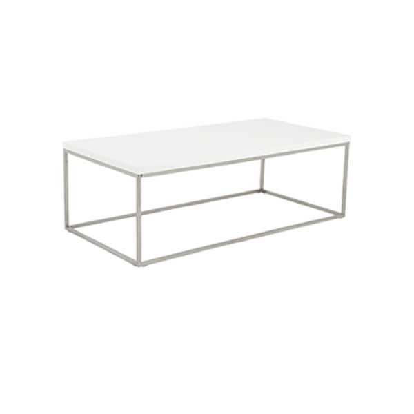 Teresa Cocktail Table - Rectangular - White