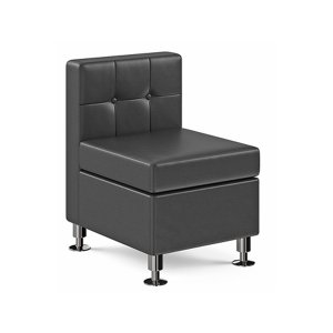 Tuft Armless Lounge Chair - Black