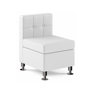 Tuft Armless Lounge Chair - White