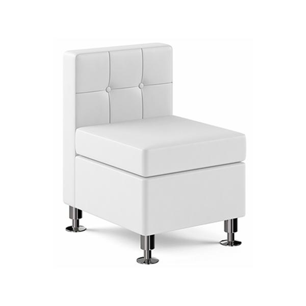 Tuft Armless Lounge Chair - White