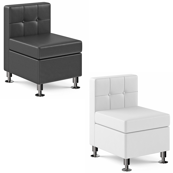 Tuft Armless Lounge Chairs - V-Decor Trade Show Furniture Rentals in Las Vegas