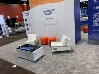 Trade Show Furniture Rental Tip 6 - Encourage Attendees to Stay Longer - V-Decor Event Furnishings in Las Vegas